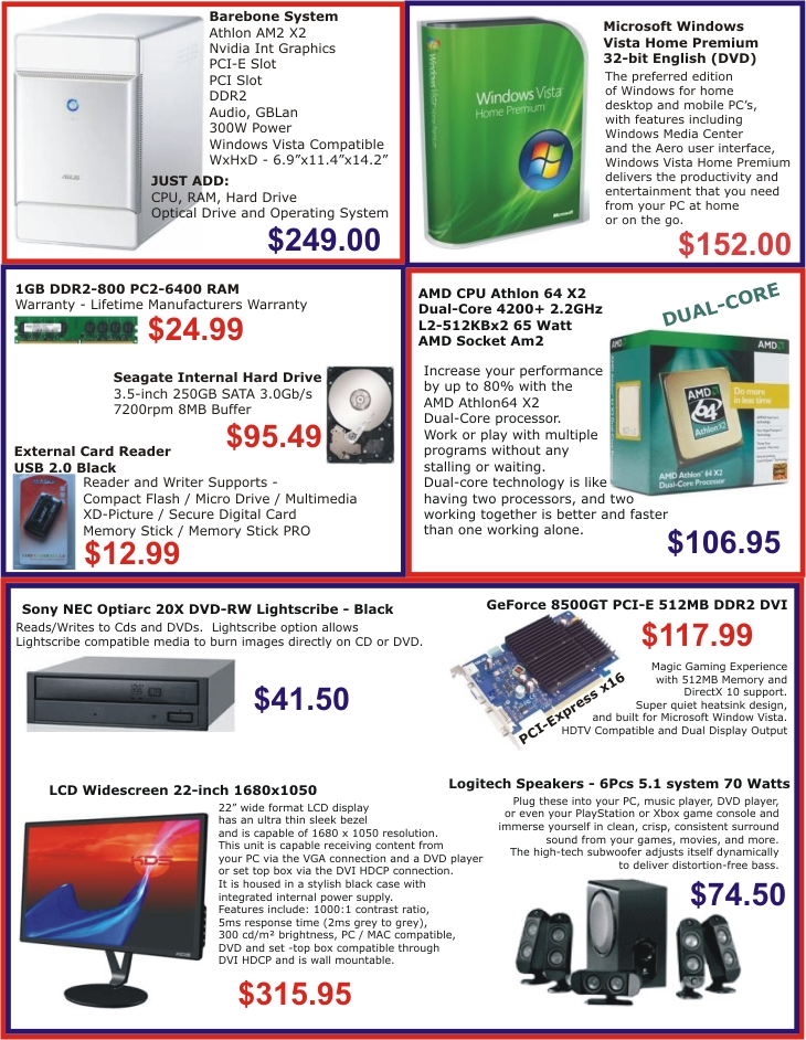 weston computers promotions december 2007 to january 2008